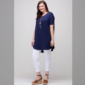 Tops - PLUS Piko Loose Fit Tunic